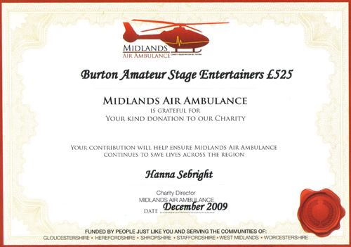 Air Ambulance certificate